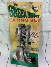 1966 The Green Hornet Eating Set on card SUPER RARE ESTATE FIND WOW