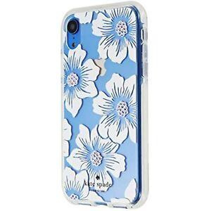 Kate Spade Defensive Hardshell Case for Apple iPhone XR - Hollyhock/Cream/Gems