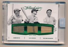 2016 Flawless BABE RUTH * LOU GEHRIG * HUGGINS Game Used Pinstripe Jersey * #4/5
