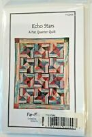 "Echo Stars Quilt Quilting Pattern "" A Fat Quarter"""