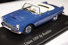 Auto union 1000sp CABRIOLET 1958 bleu 1:43 MINICHAMPS NEUF & OVP 400011031