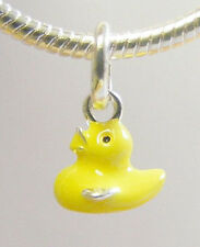 Duck Link Charm for Charm Bracelets Yellow