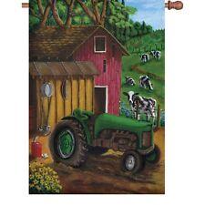 Tractor on the Farm House Size Flag PR 52345