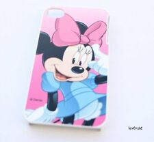 iPhone 4 4G 4S - HARD PROTECTOR CASE COVER PLATE Disney Minnie Mouse Pink Blue