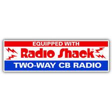 Equipado con radio Shack tw0 vías de radio Retro Americano de la etiqueta Engomada de 180 mm de ancho