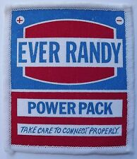 EVER RANDY POWER PACK Vtg 70`s/80`s Printed Patch Funny Humorous Joke