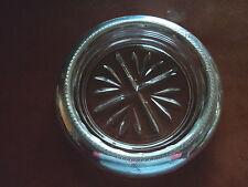Antique f.b rogers sterling silver wine coaster verre pressé