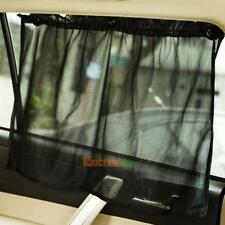 2pc Car Interior Side Window Curtain Mesh Sun Shade UV Protection w/ Suction Cup