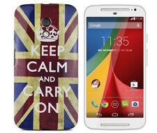 Case en tpu pour Motorola Moto g2 Housse de protection sac Cover étui Keep Calm and Carry On