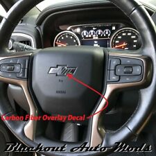 2014-20 Chevy Silverado Carbon Fiber Steering Wheel Emblem Overlay Decal