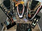 Vintage Jewelry Lot Semi Precious and Natural Gem Stones 3.9 Lbs 925 Silver