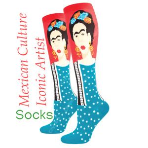 Women's Knee High Socks Novelty Footwear Frida Kahlo Iconic Artist Socksmith