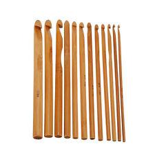 12x DIY Bambusgriff Häkelnadel Maschenbindung Yarn Craft Stricknadel Set