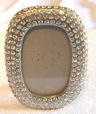 "Beautiful Photo Frame With Many Clear Rhinestones Fits 2.75"" x 1.75"" Photo"