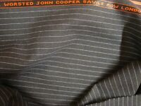 "4.38 yd JOHN COOPER WOOL FABRIC Cool Wool Super 100s 8 oz SUITING 158"" BTP"
