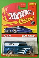 2005 Hot Wheels Classics Series 2 Dairy Delivery Spectraflame Blue Red Line
