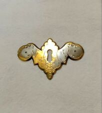 Gold Brass Antique Escutcheon Key Hole Cover Swag Design Plate Furniture Part