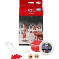 Thin Legged Elf Silk Clay Funny Friends DIY Set Modelling Christmas Crafts 13 cm