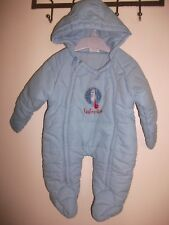 "Igglepiggle ""In The Night Garden"" Boys Blue Snowsuit / Pramsuit Age 3-6 Months"