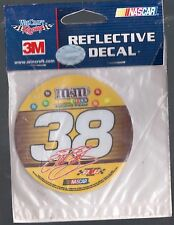 NEW NASCAR  3 INCH REFLECTIVE DECAL # 38 ELLIOT SADLER