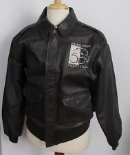 RARE VTG Avirex USAF 50th Anniversary 1997 Leather Bomber A-2 Jacket 44 Large