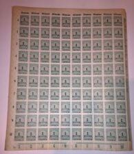 WWI Sheet European Stamps