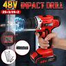 48V Electric Torque Impact Drill Cordless Hammer Screwdriver 25+3