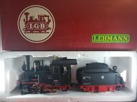 TRAIN - LBG 2015D Steam Engine With Conductor Plus One Car G Scale
