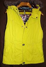 BURTON WOMENS DRYRIDE WATERPROOF HOODED VEST WITH FUR TRIM SIZE-LARGE