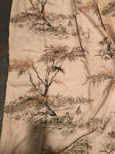 Pair of 1960's Mid Century Modern Curtains Trees