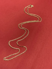 """Solid 10K Yellow Gold Cuban Curb Link Chain 2mm 20"""""""