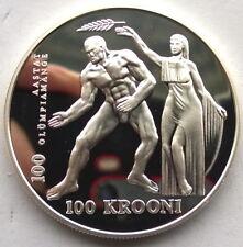 Estonia 1996 Olympics 100 Krooni Silver Coin,Proof