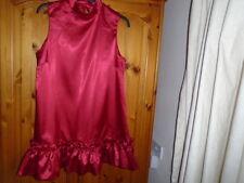 Stunning red satin look above knee dress, JOHN ZACK London, size 12, NEW w TAG