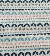 100% Cotton Fabric Freedom Abstract Stripe Floral Fabric Half a Metre 50 x 112cm
