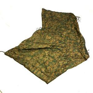 USMC Zippered Poncho Liner Woobie Blanket MARPAT Camo Tactical Camping USGI
