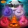 5PCs Hexenhut beleuchtet leuchtende Lichter Halloween-Dekor für Garten im Freien