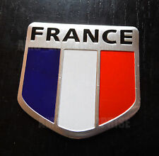 Chrome Style Francia Francese Tricolore Bandiera BADGE PER VW TIGUAN TOURAN TOUAREG TDI