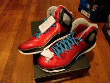 NEW ADIDAS DERRICK ROSE 5 BOOST C75593 NEW YORK KNICKS RED AND BLACK SIZE 9.5 US