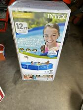 """Intex 12' x 30"""" Metal Frame Above Ground Pool with Filter Pump"""