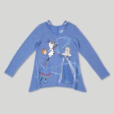Disney Frozen Girls Blue Long Sleeve Top Size 4-5 XS