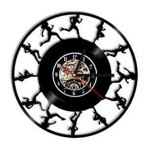 Running Vinyl Wall Clock Sport decorating The Garage White House Gift