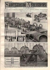 1901 Scientific American April 13 Millinocket ME paper mill; Vincennes Balloons