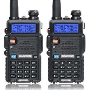 2X Baofeng UV-5R LCD Dual Band UHF VHF Walkie Talkie Ham Two Way Radio +Earpiece