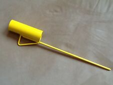 Fishing Rod Holder - Powder Coated in Yellow.  Push into Ground