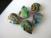 5 Pcs Natural Abalone Shell Pear Shaped Cabochons Mother of Pearl 9x13mm BB151