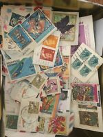Almost 2 pounds BOX Full of  US and World Postage Stamps Collection