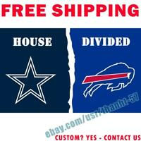 Tampa Bay Buccaneers vs New Orleans Saints divided Flag 3x5ft