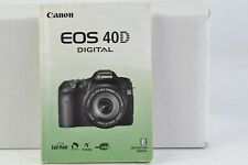 Canon EOS 40D Digital Camera Instruction Manual English GC (099)