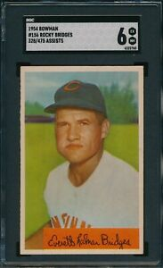 1954 Bowman #156 Rocky Bridges 328/475 Assists SGC 6 Not PSA *OBGcards*