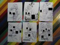 2000s Julius Zimmerman art pop lot of sm prints - Alice Lara Buxley Red +